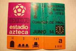 Mexico 70 ticket Pictograms